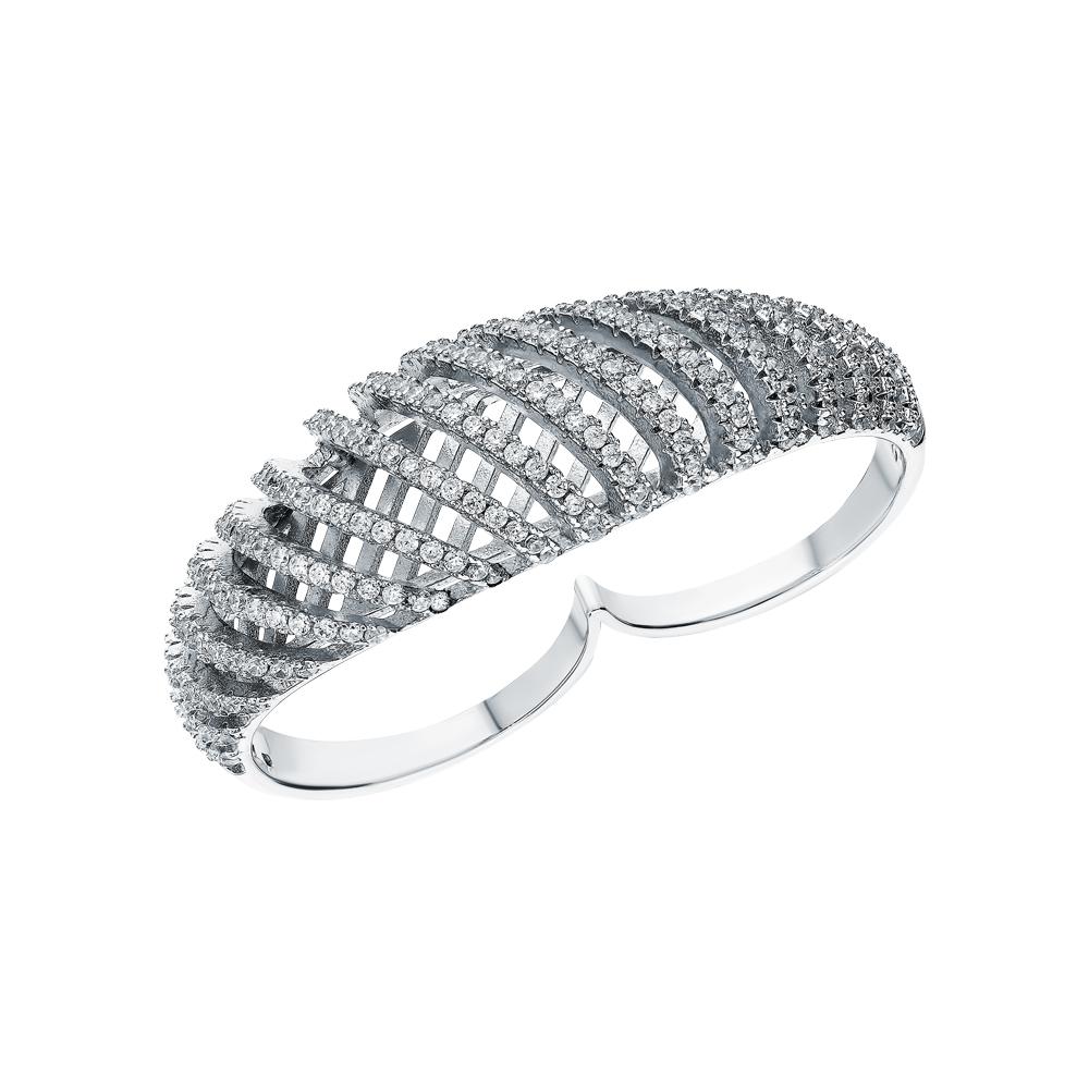 Серебряное кольцо с кубическими циркониями в Екатеринбурге