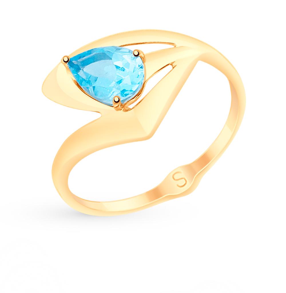 Фото «Золотое кольцо с топазами SOKOLOV 715115*»