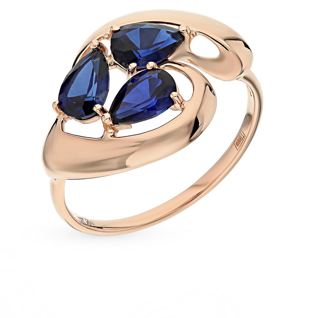 золотое кольцо с корундом SOKOLOV 714628*