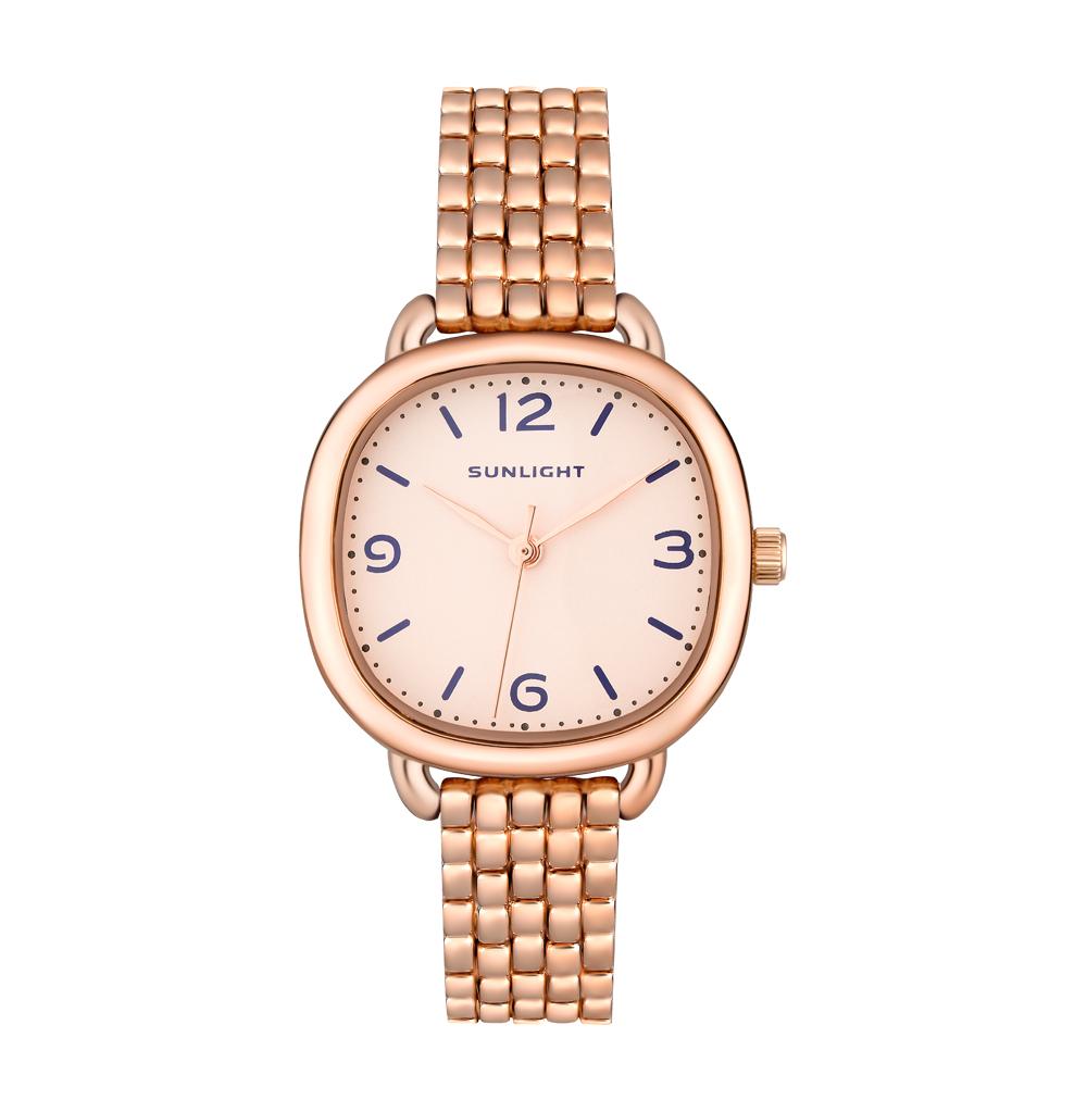 Классические женские часы на металлическом браслете
