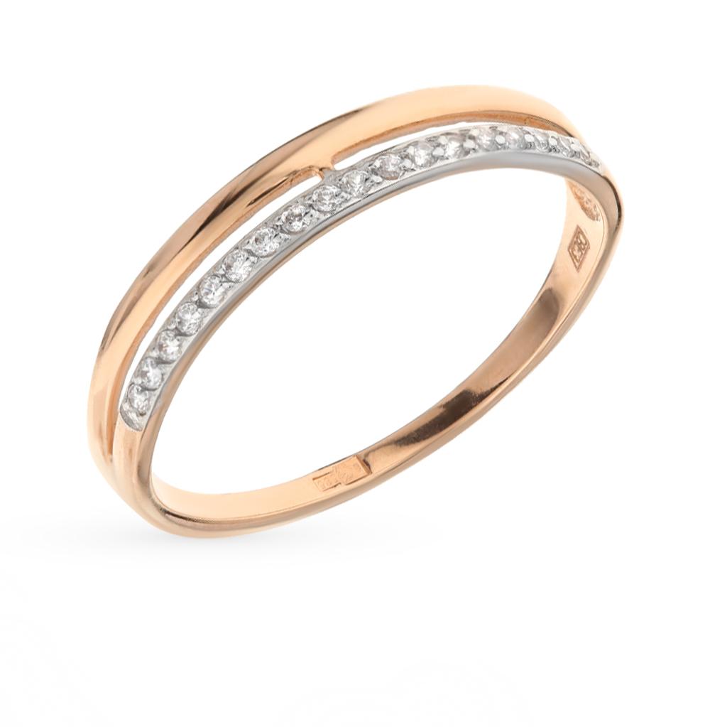 золотое кольцо с фианитами SOKOLOV 017151*