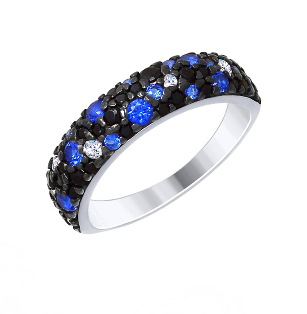 Фото «Серебряное кольцо с фианитами SOKOLOV 94012478»