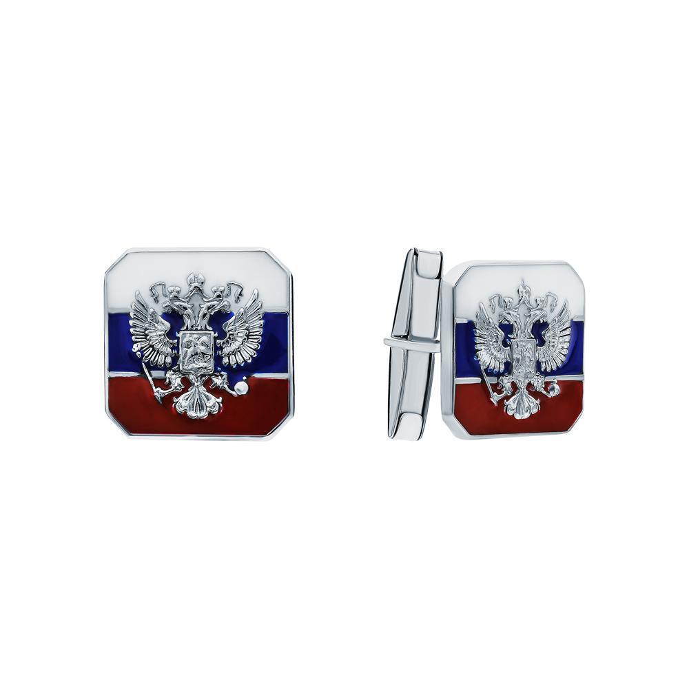 Серебряные запонки с эмалью в Екатеринбурге