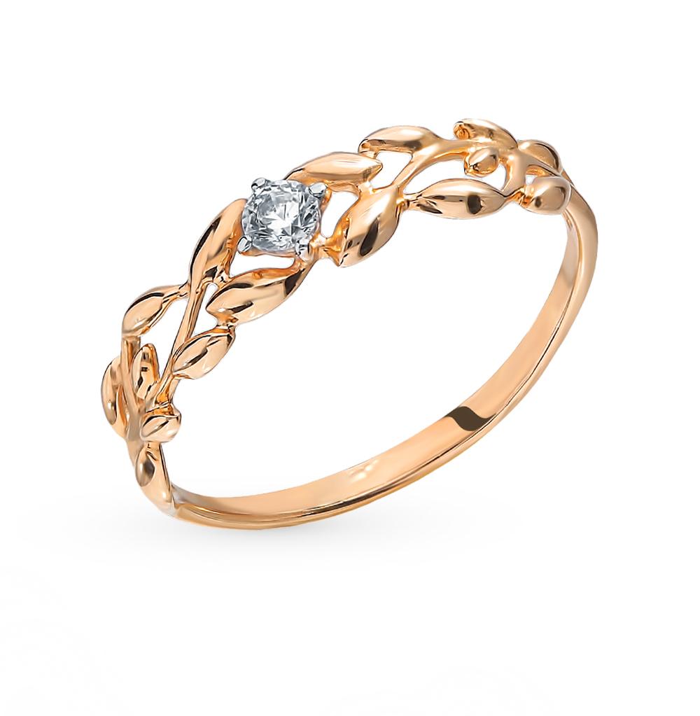 Фото «Золотое кольцо с фианитами SOKOLOV 017237*»
