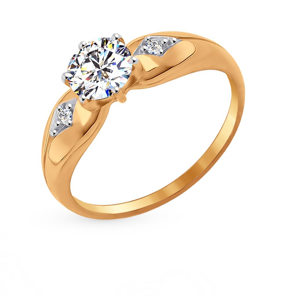 Фото «Золотое кольцо с фианитами SOKOLOV 016996*»
