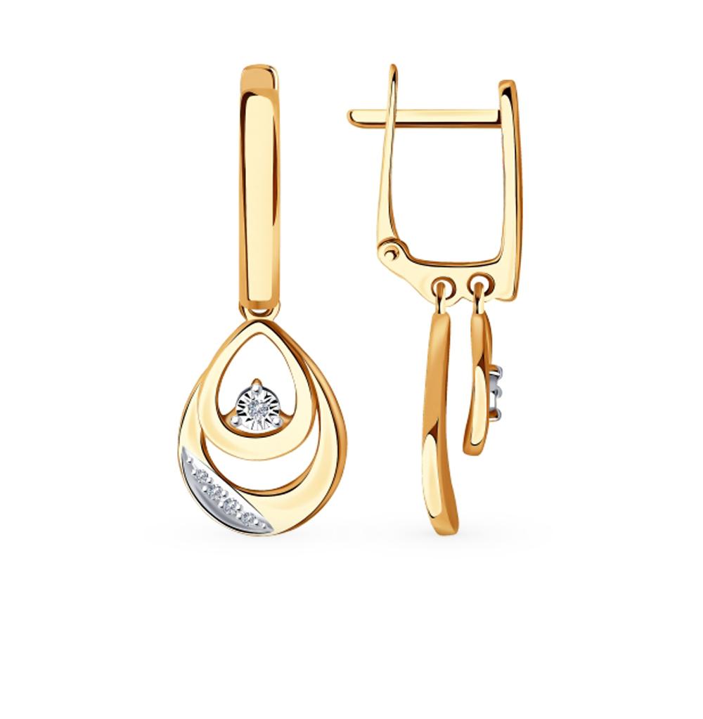 Фото «Золотые серьги с бриллиантами SOKOLOV 1021461»