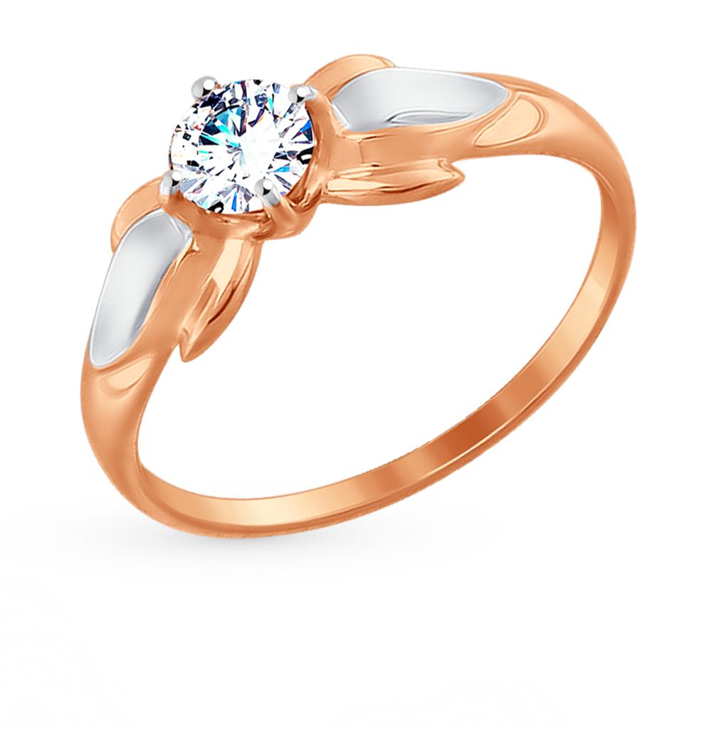 Золотое кольцо с фианитами SOKOLOV 017438* в Санкт-Петербурге