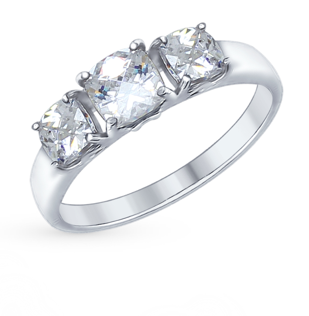 серебряное кольцо с фианитами SOKOLOV 89010066