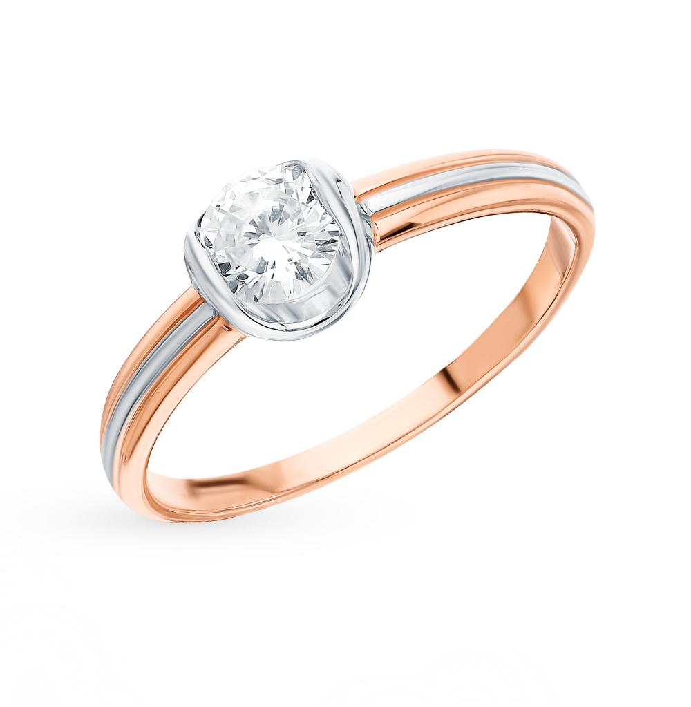 Фото «Золотое кольцо с фианитами SOKOLOV 018246*»