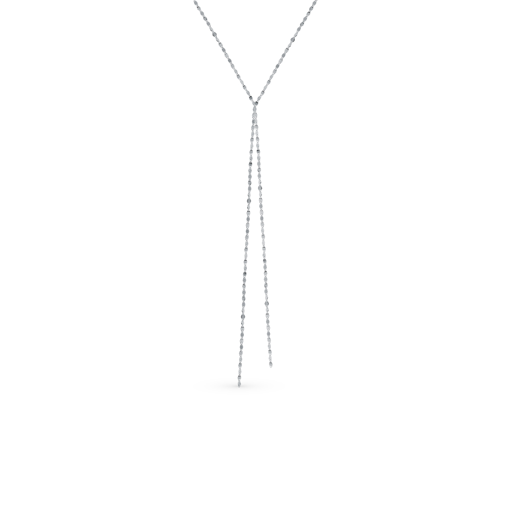 серебряное шейное украшение