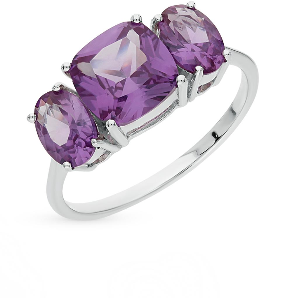 Фото «серебряное кольцо с александритами синтетическими»