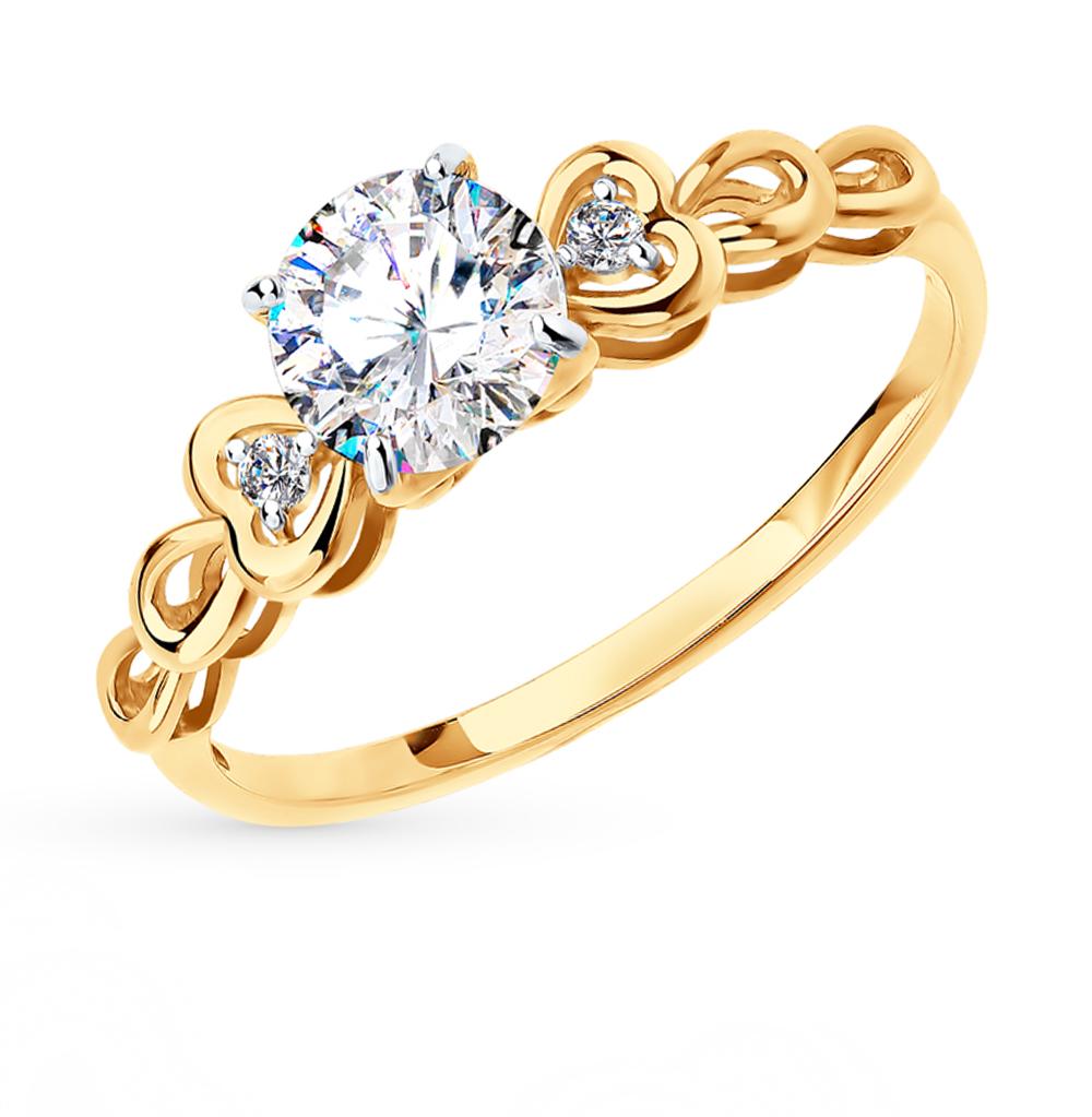 Золотое кольцо с фианитами SOKOLOV 81010260* в Санкт-Петербурге