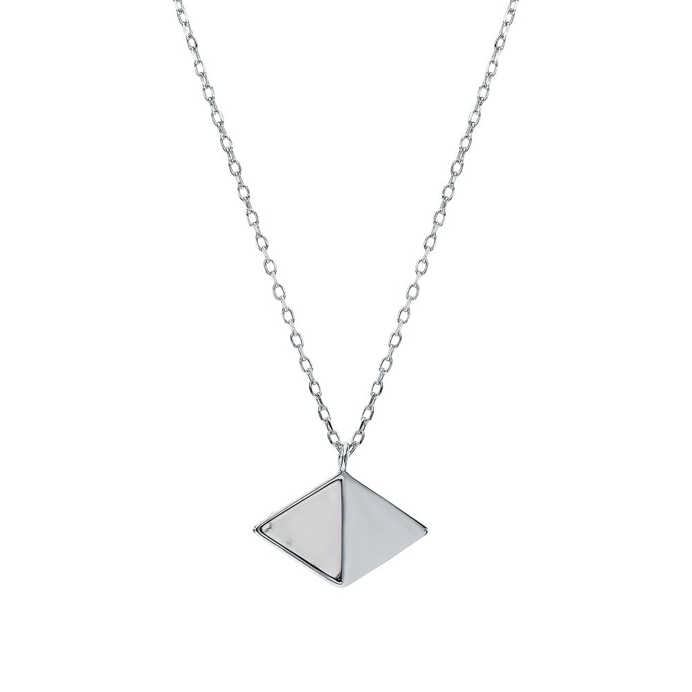 Фото «Серебряное шейное украшение с магнезитами»