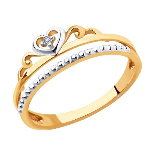 Фото «Золотое кольцо с бриллиантами SOKOLOV 1011938»