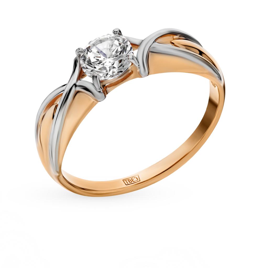 золотое кольцо с фианитами SOKOLOV 017369*