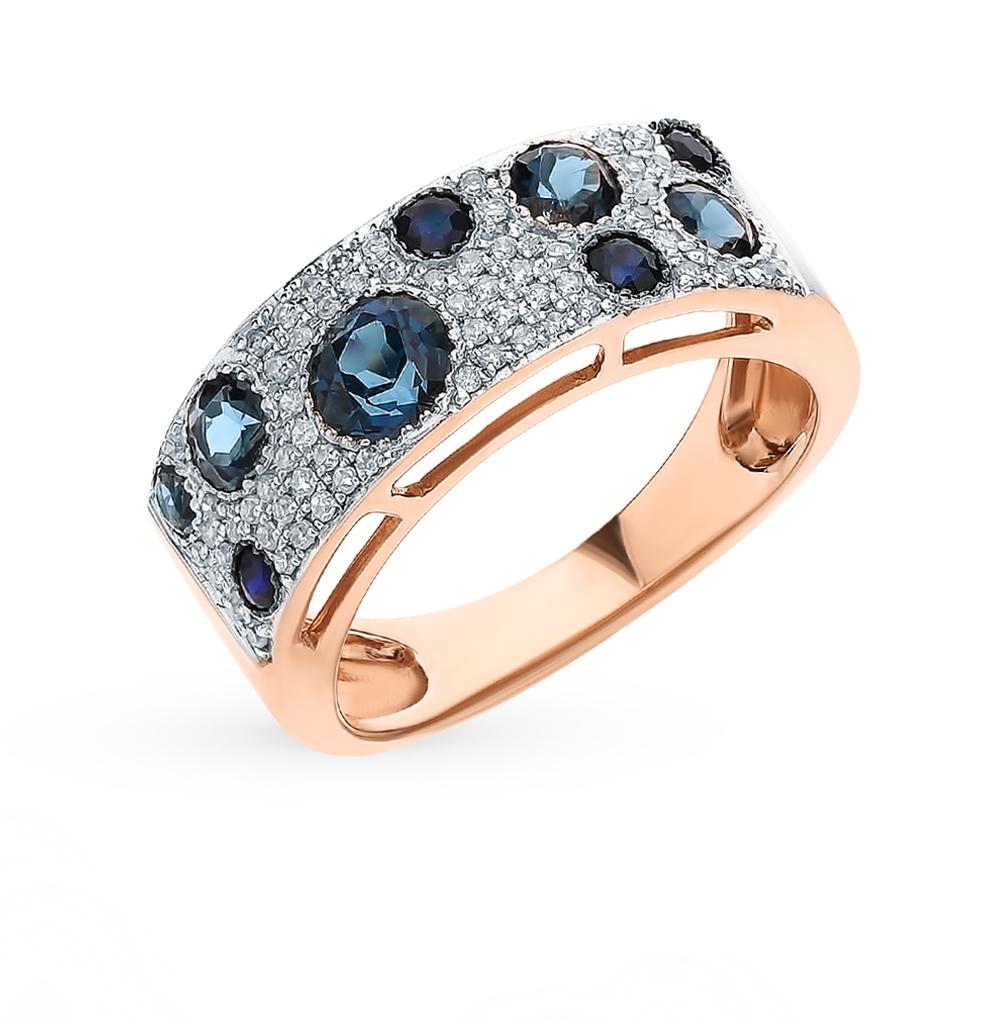 Фото «Золотое кольцо с сапфирами, топазами и бриллиантами»
