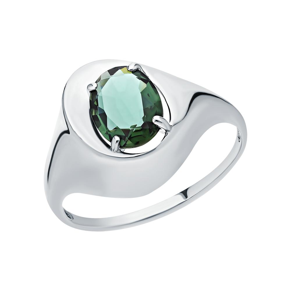 Фото «Серебряное кольцо с турмалинами имитациями»