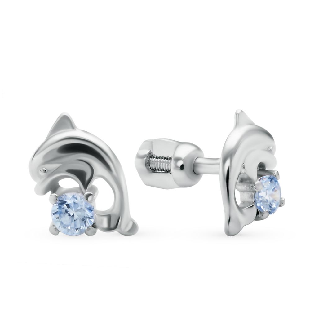 серебряные серьги с фианитами SOKOLOV 94020543