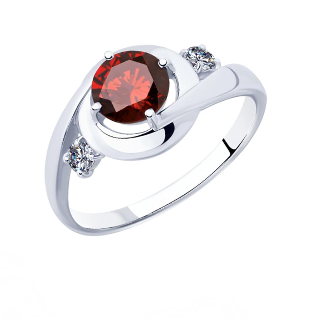 серебряное кольцо с фианитами SOKOLOV 94012872