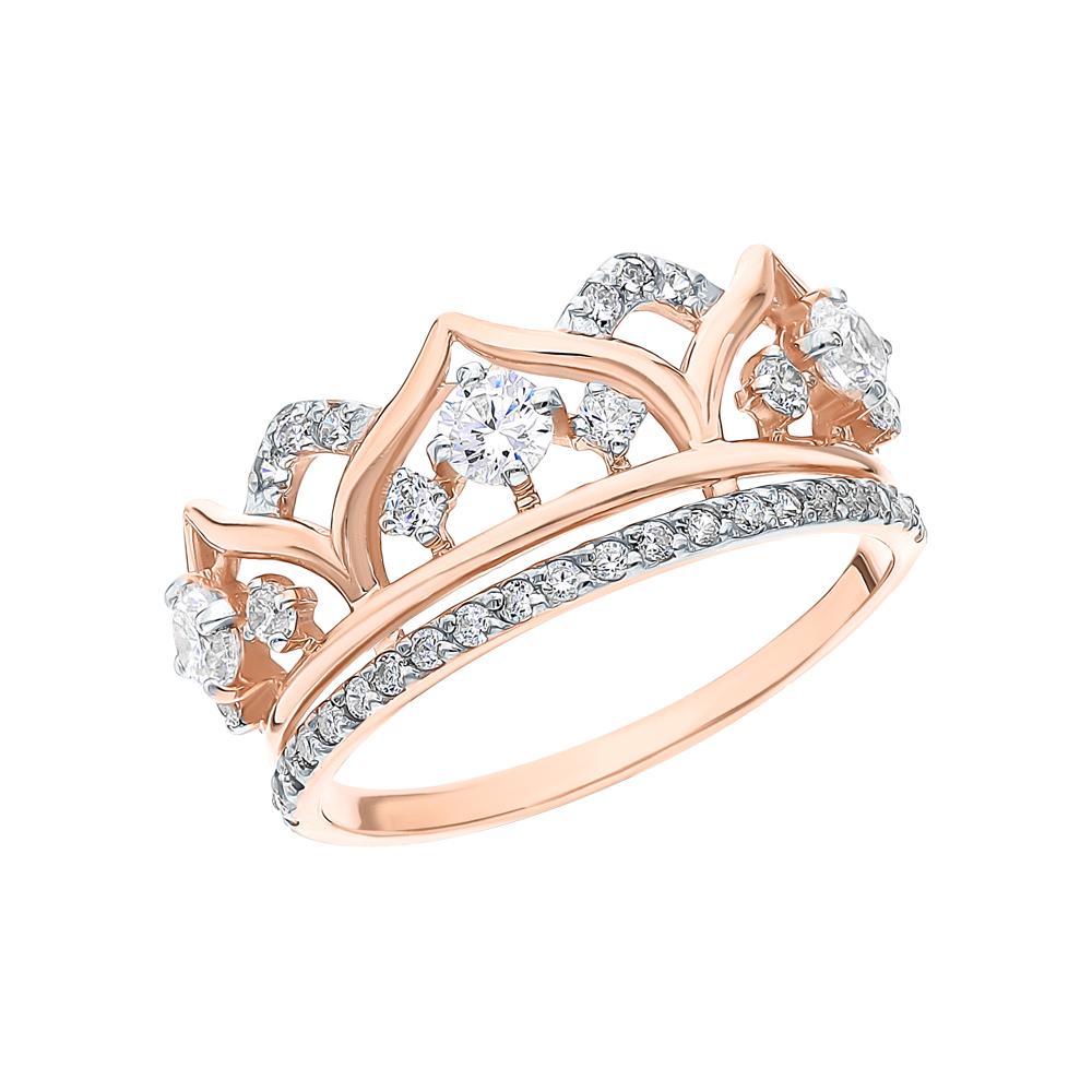 Фото «Золотое кольцо с фианитами SOKOLOV 017416*»
