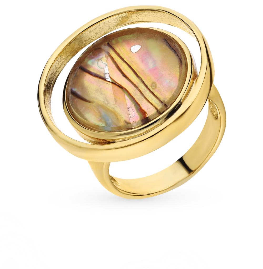 Фото «Кольцо с ракушками и ювелирным стеклом»