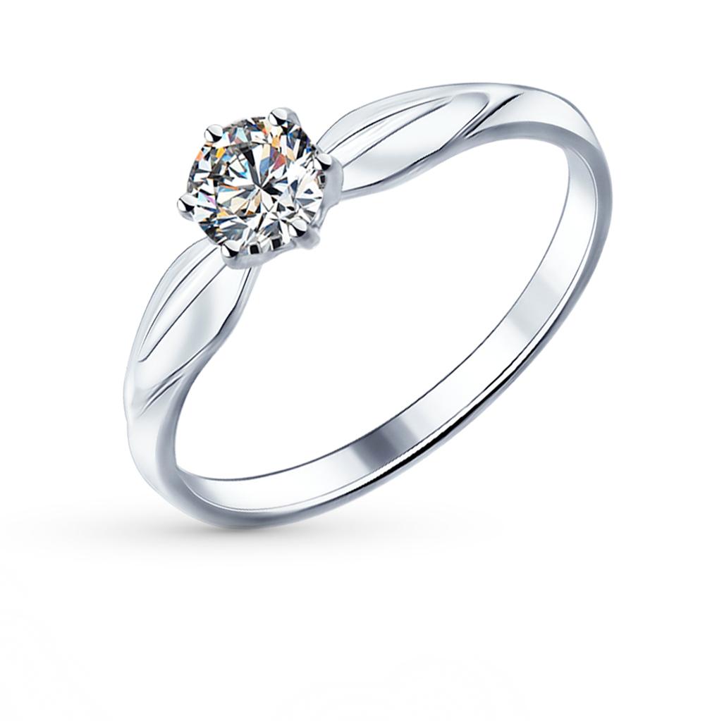 серебряное кольцо с фианитами SOKOLOV 89010016