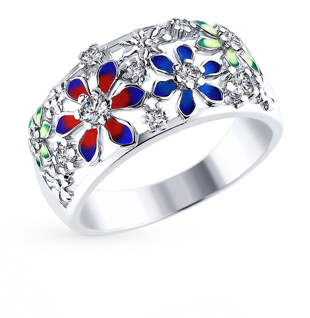 серебряное кольцо с фианитами SOKOLOV 94010583