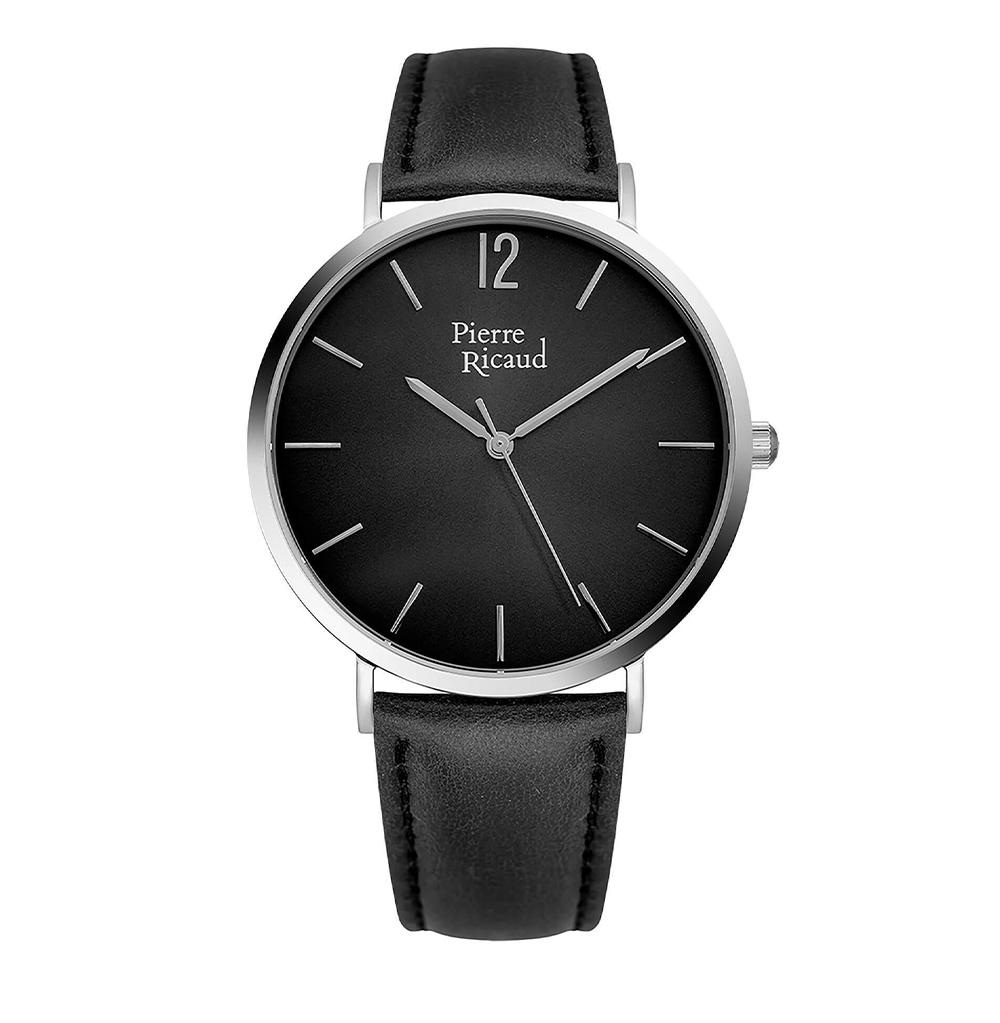 Фото «Мужские кварцевые часы P91078.5254Q на кожаном ремешке с минеральным стеклом»