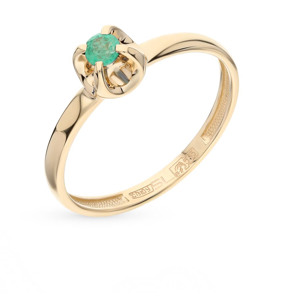 Золотое кольцо с изумрудами от SUNLIGHT
