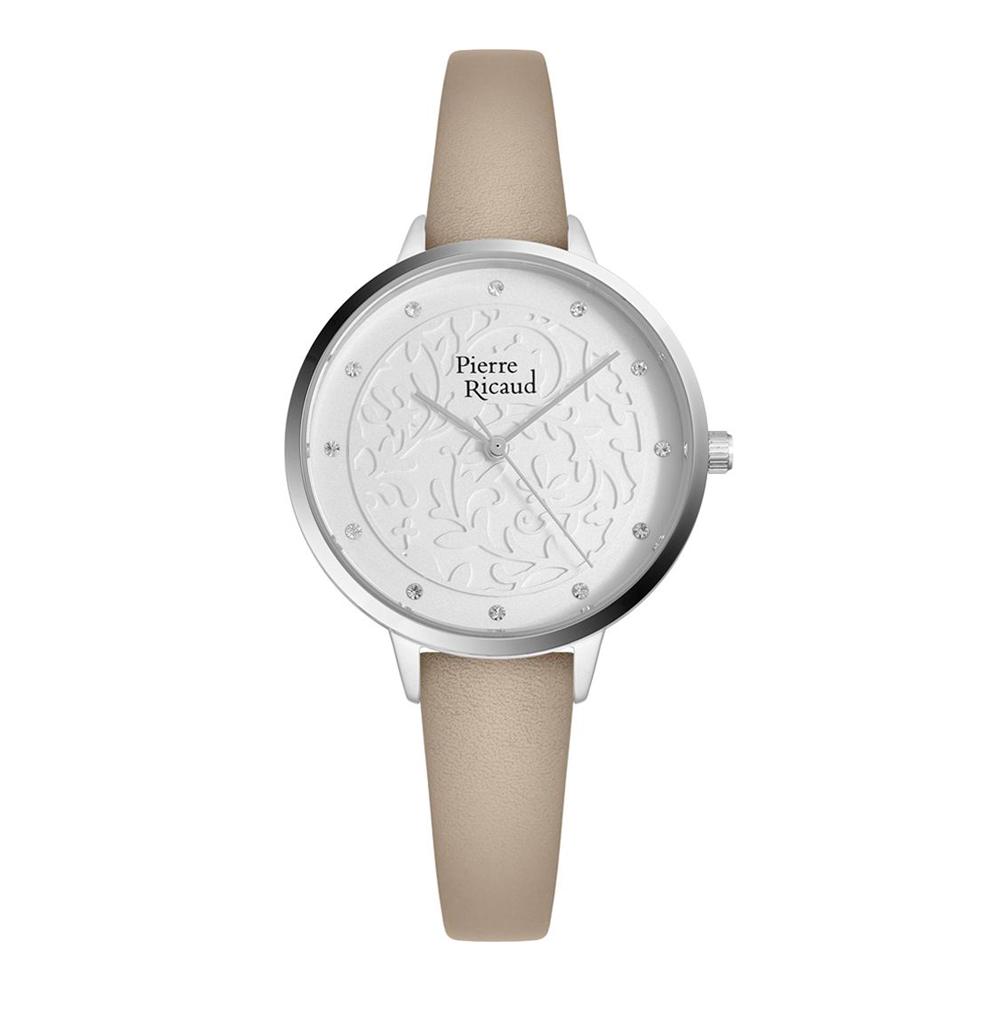 Женские часы P21065.5G43Q на кожаном ремешке с минеральным стеклом