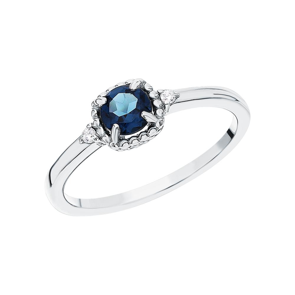 Серебряное кольцо с ситаллами и фианитами в Екатеринбурге