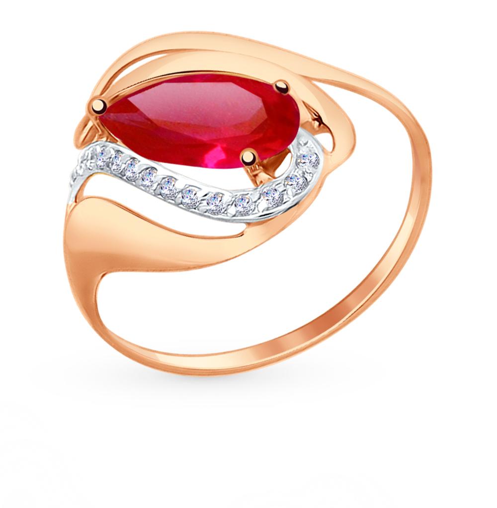 Золотое кольцо с рубинами, корундом и фианитами SOKOLOV 714706* в Екатеринбурге