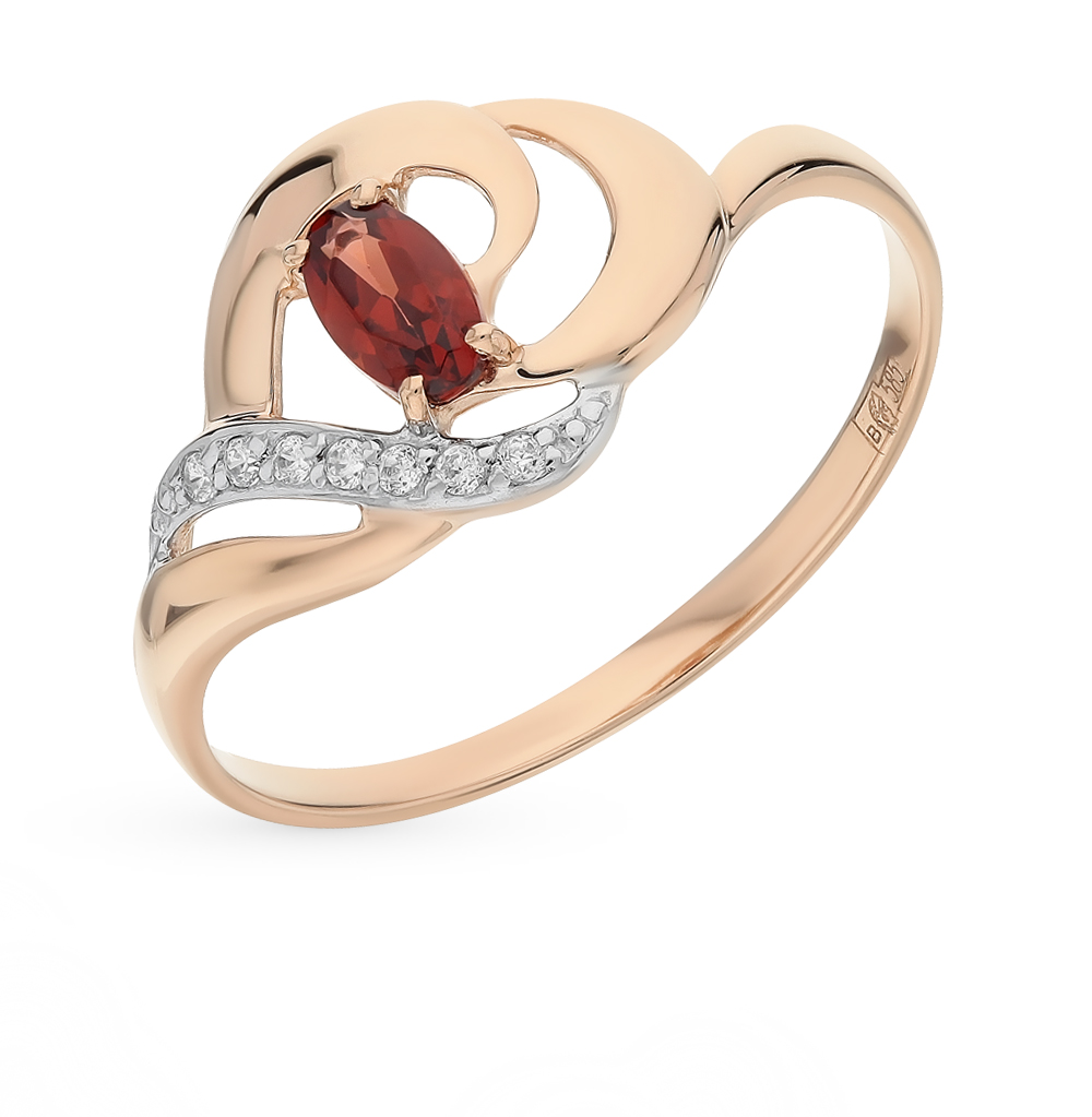 Золотое кольцо с гранатом SOKOLOV 714651* в Екатеринбурге
