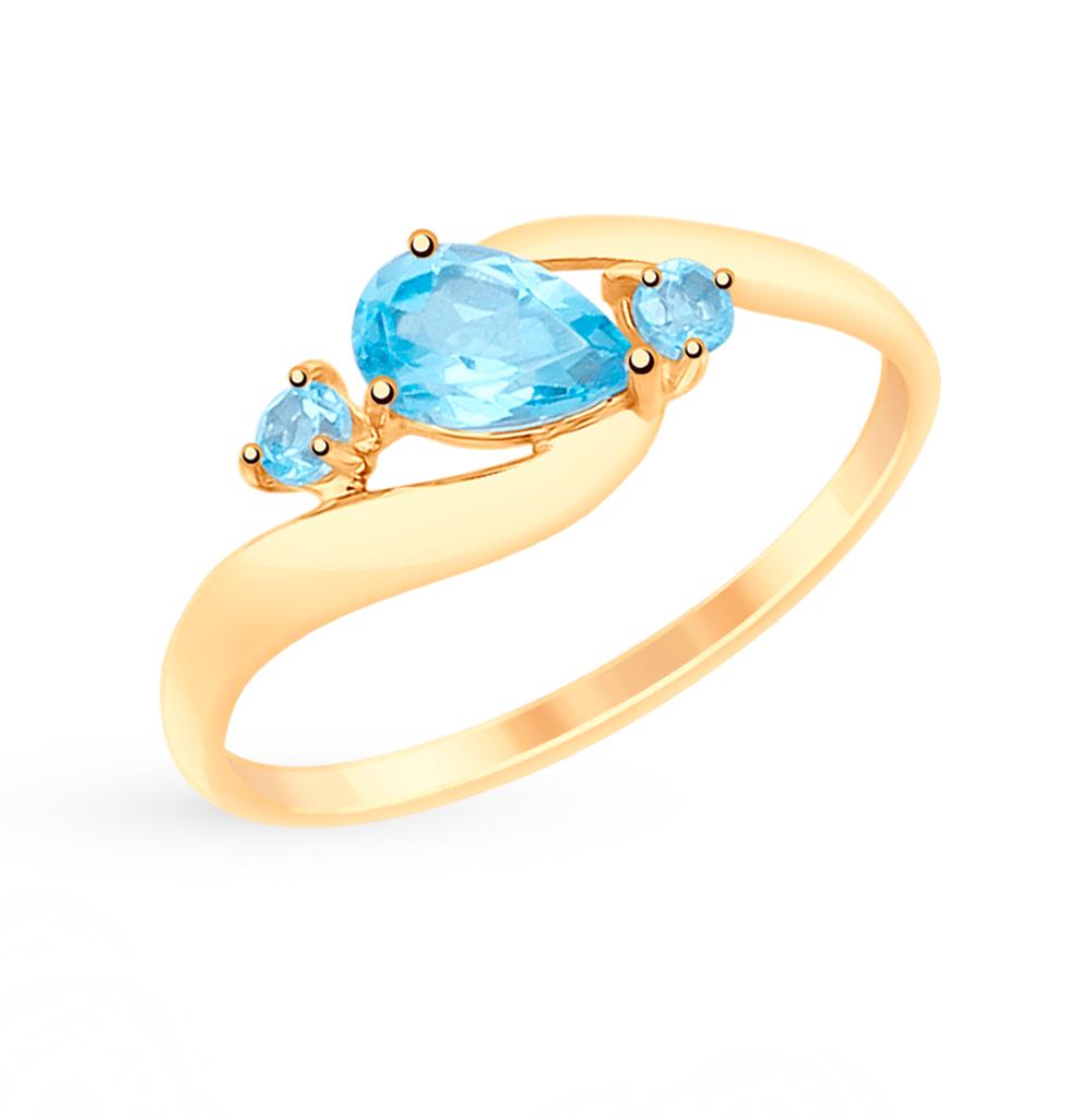 золотое кольцо с топазами SOKOLOV 715080*
