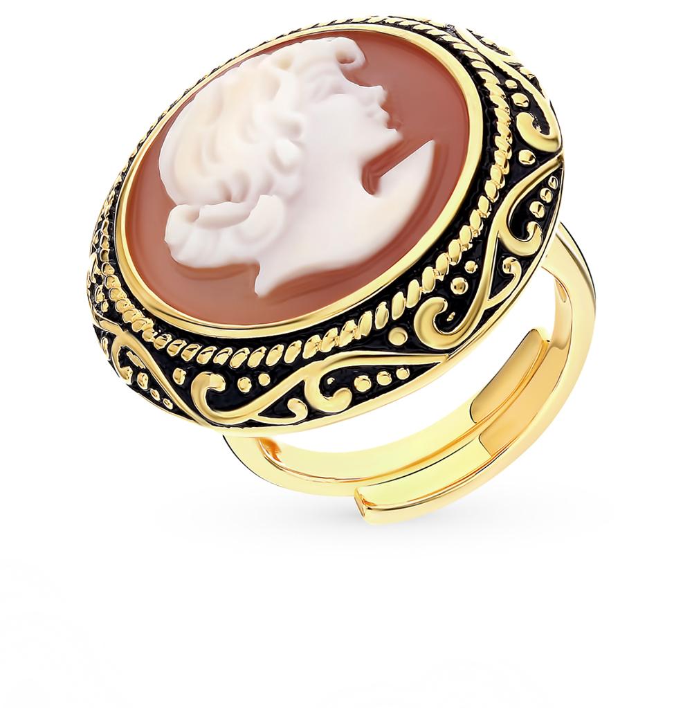 Серебряное кольцо с агатом и эмалью в Екатеринбурге