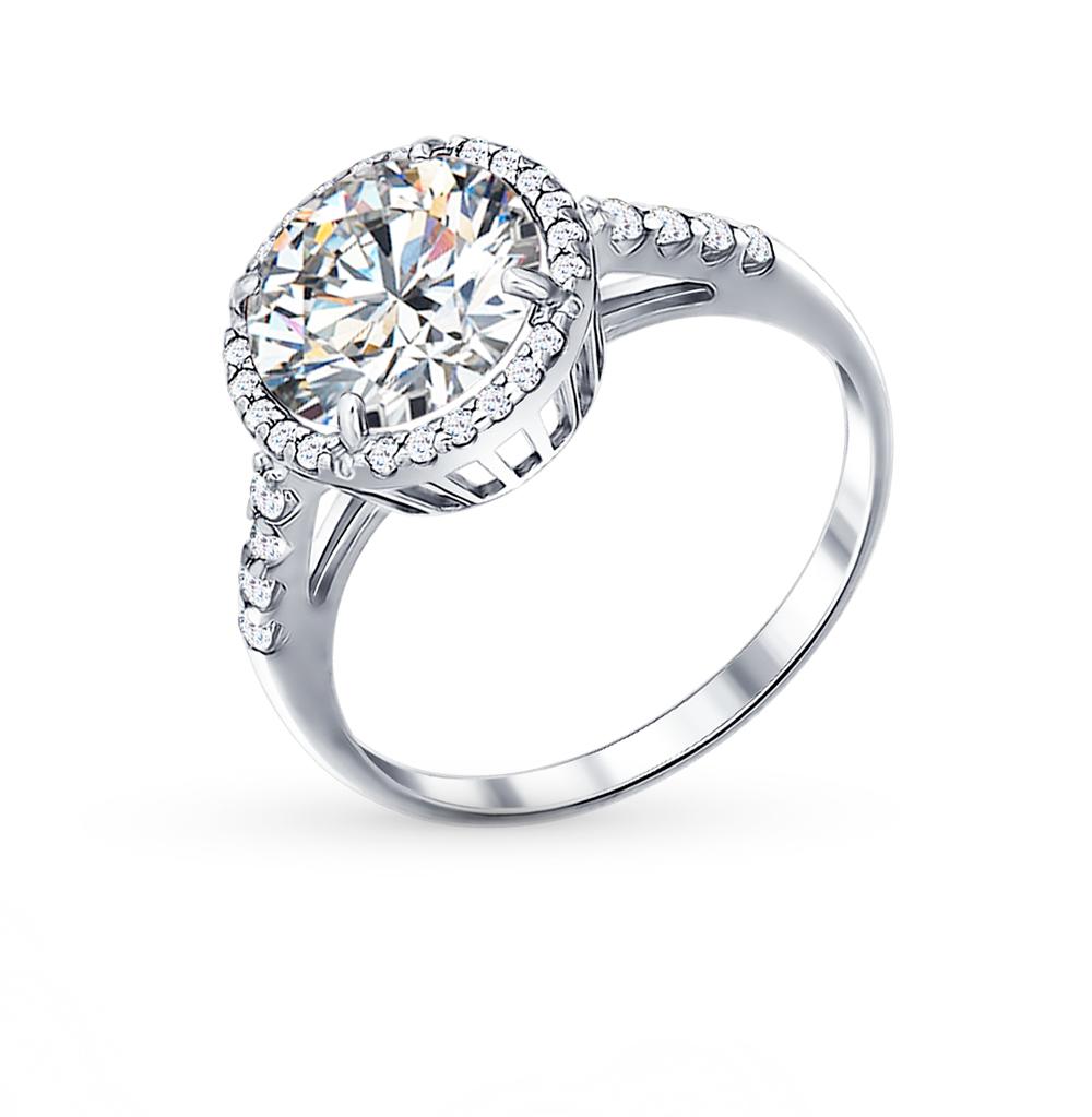 серебряное кольцо с фианитами SOKOLOV 94011237