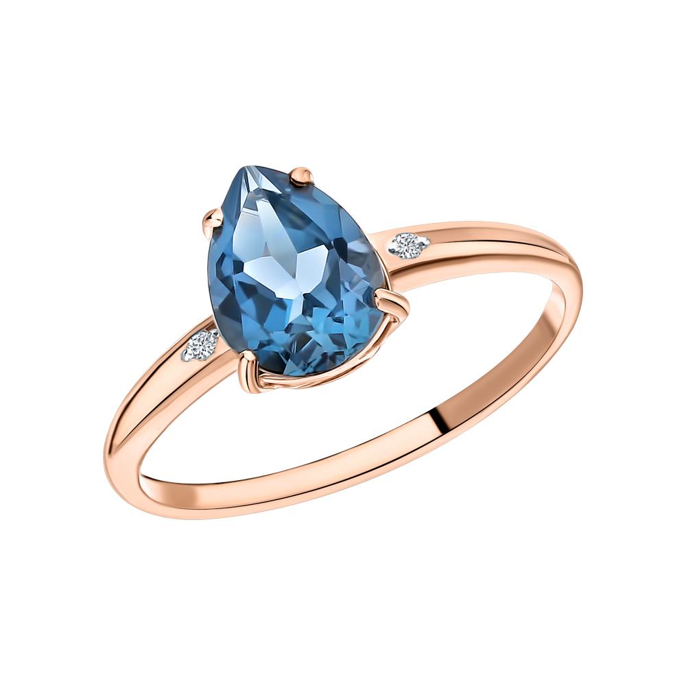 Фото «Кольцо с топазом и бриллиантами»