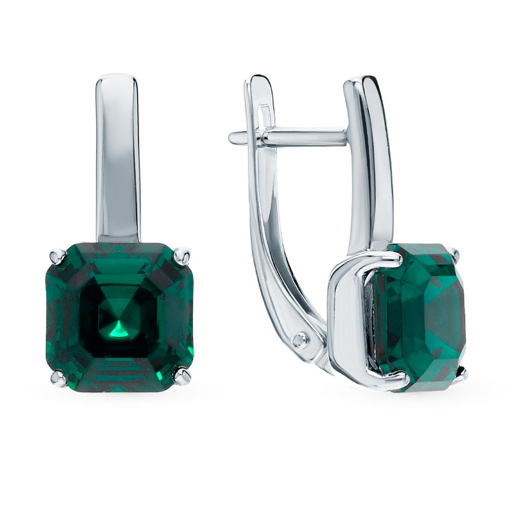 Серебряные серьги с кристаллами swarovski SOKOLOV 94024046 в Екатеринбурге