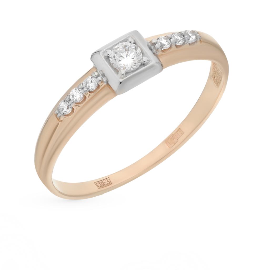 Золотое кольцо с фианитами SOKOLOV 017132* в Санкт-Петербурге
