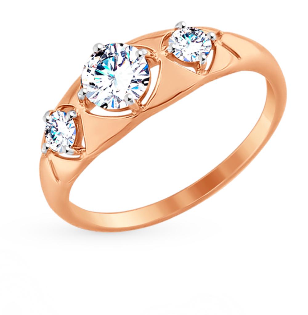 Фото «Золотое кольцо с фианитами SOKOLOV 017500*»