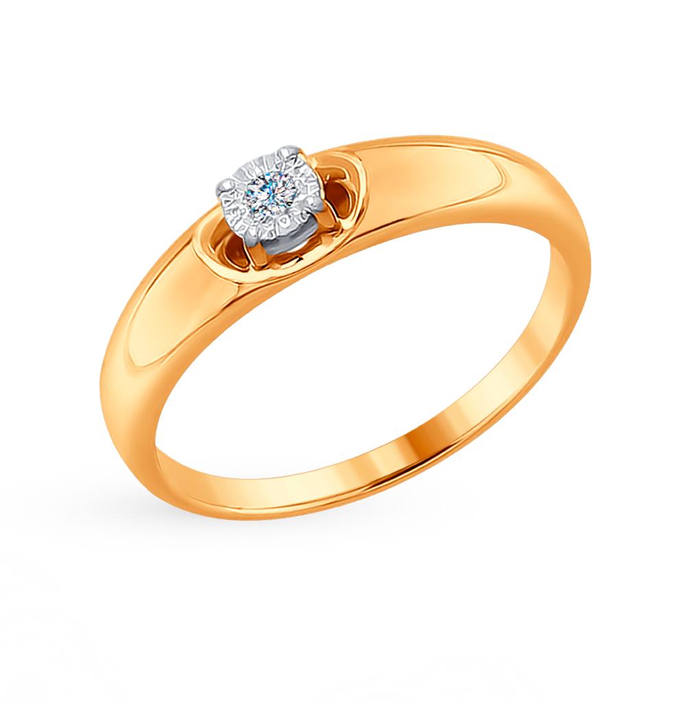 золотое кольцо с бриллиантами SOKOLOV 1011627