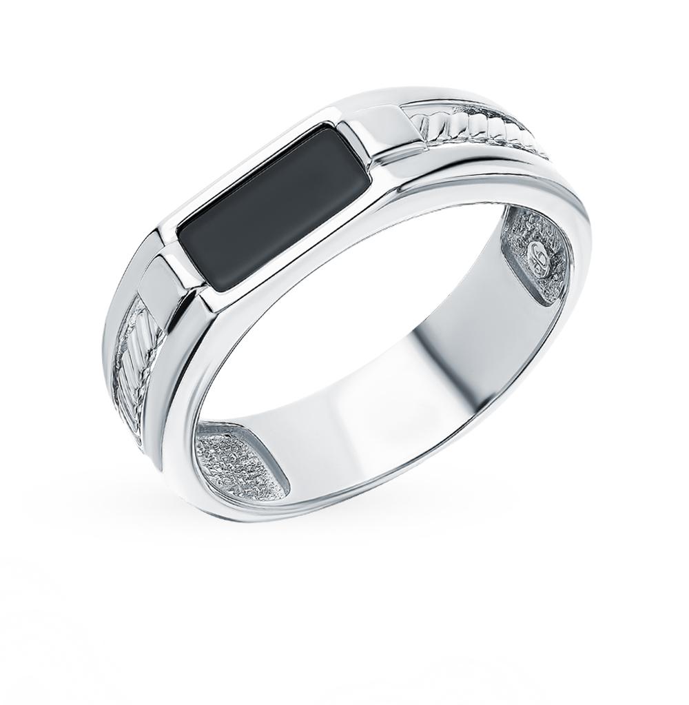 Фото «Серебряное кольцо с ониксом SOKOLOV 94012169»