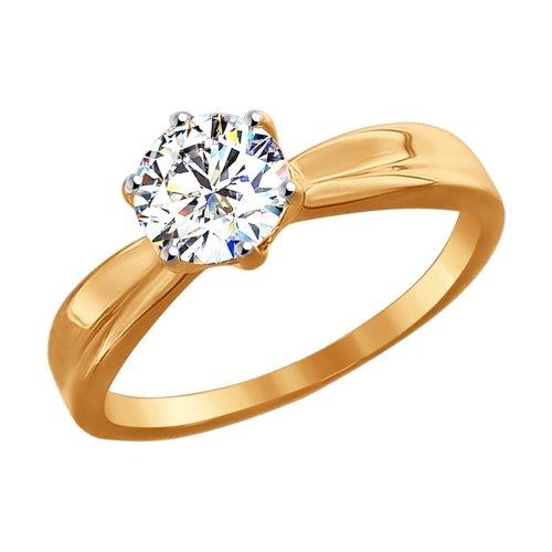 Золотое кольцо с фианитами SOKOLOV 81010252* в Санкт-Петербурге