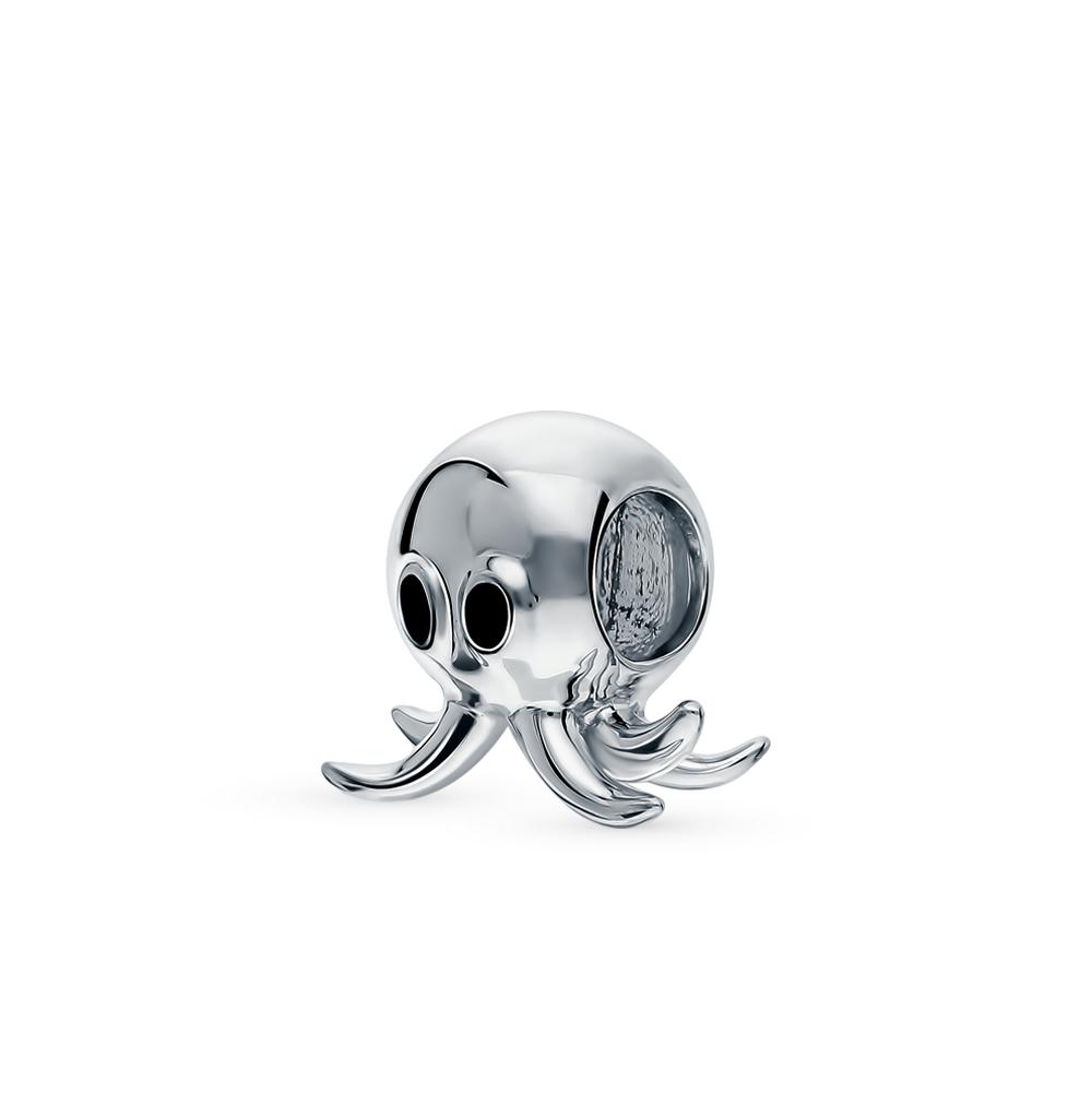 Фото «Серебряная подвеска-шарм с эмалью»
