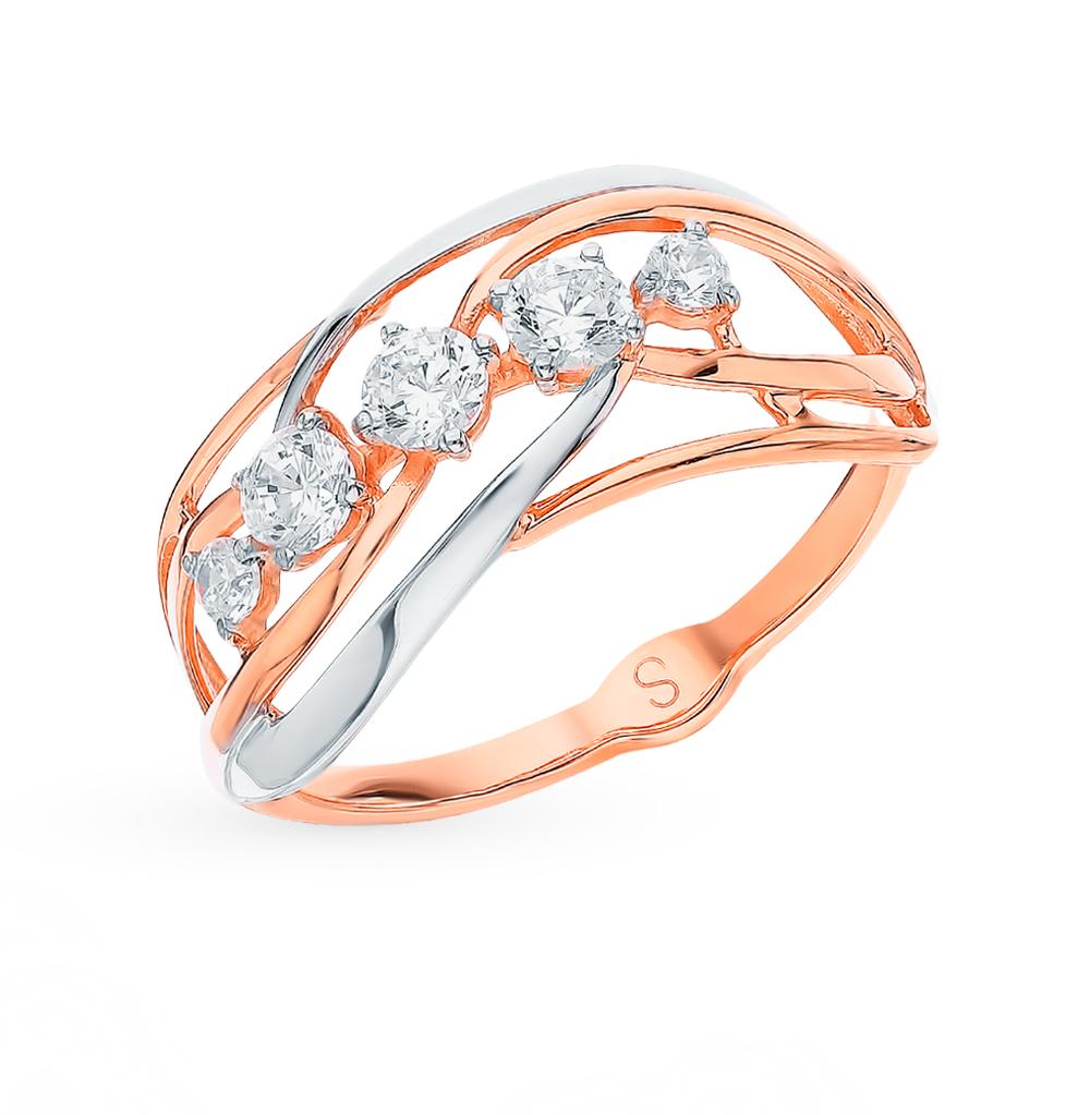 золотое кольцо с фианитами SOKOLOV 017914*