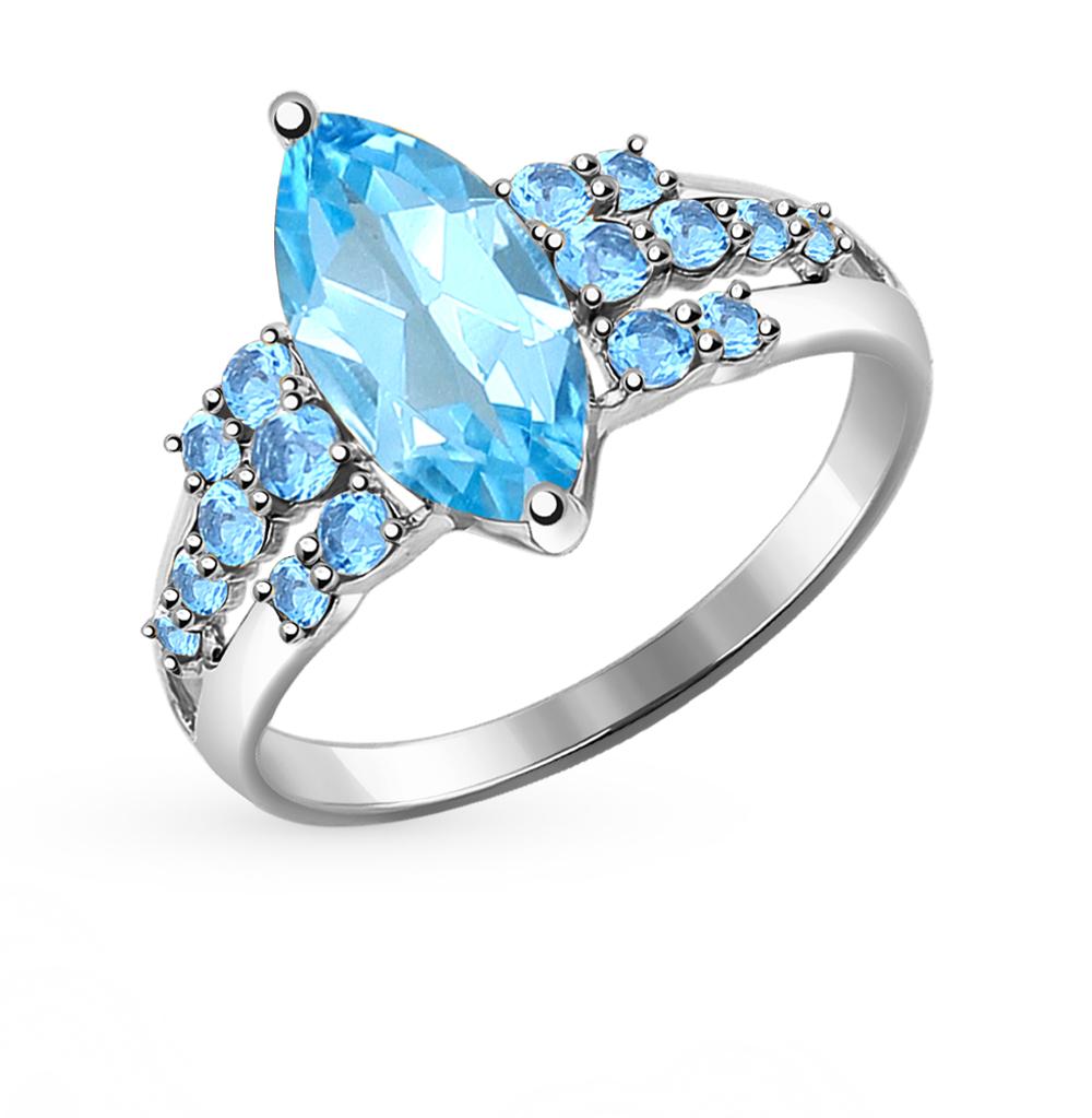 золотое кольцо с топазами SOKOLOV 714397Б*