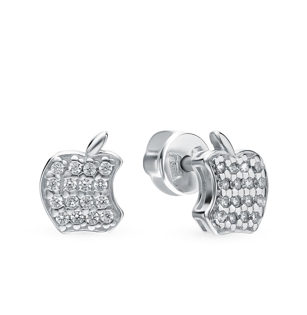 серебряные серьги с фианитами SOKOLOV 94021189
