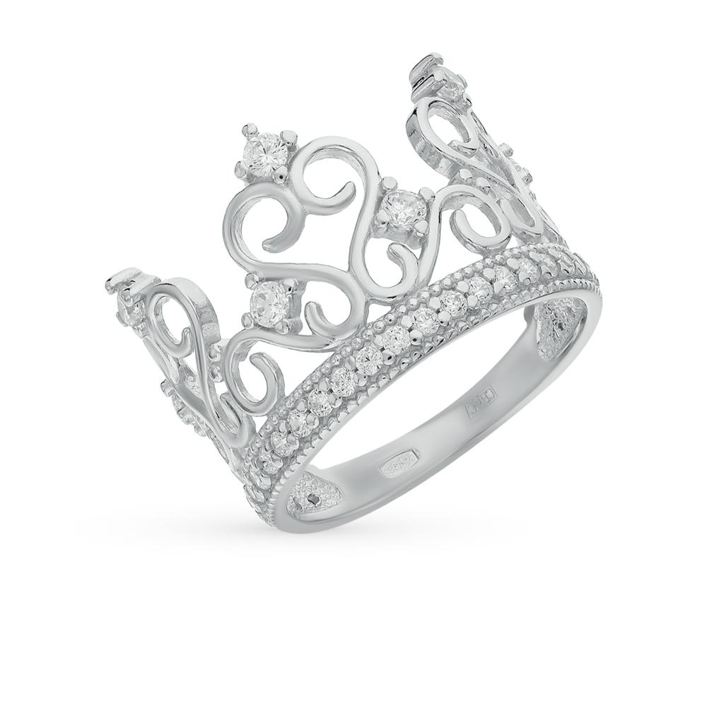 Фото «Серебряное кольцо с фианитами SOKOLOV 94011217»