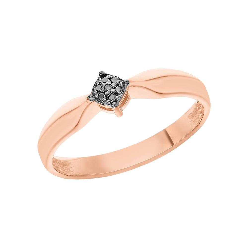 Серебряное кольцо с чёрными бриллиантами в Санкт-Петербурге