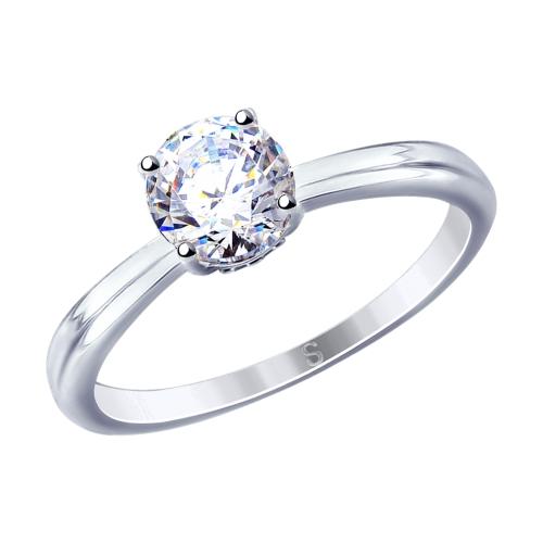 Фото «Серебряное кольцо с фианитами SOKOLOV 94012810»